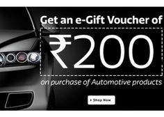 Get 200 Gift Voucher On Purchase Automotive Products of Rs.500 on Flipkart - Best Online Offer