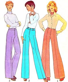1970s Womens Pants Pattern Simplicity 7056 Wide Leg by paneenjerez, $10.00