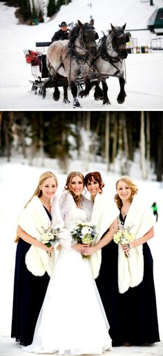 Snowy Deer Valley Resort Wedding by Pepper Nix Photography