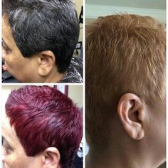 From (natural) salt and pepper to red for Fall and Winter to blonde for Spring and Summer