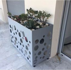 Diy Garden Furniture, Modern Outdoor Furniture, Modern Radiator Cover, Breakfast Bar Table, Air Conditioner Cover, Sheet Metal Fabrication, Rooftop Design, Garden Deco, Living Room Flooring