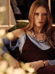 Julia Hafstrom by Mark Segal for Vogue China July 2015 - Celine