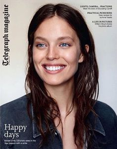 Emily DiDonato on the cover of Telegraph Magazine 2015 by Alex Cayley. Emily Didonato Instagram, Armani Fragrance, Charcoal Teeth Whitening, Garance, The Hollywood Reporter, Fashion Gallery, Covergirl, Hair Goals, Pretty People