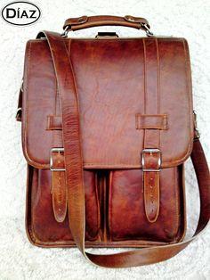 DIAZ Medium Geunine Leather Messenger Satchel / by DiazBags