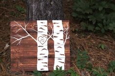Made To Order: heart in tree pallet wood art von LucysLikeables