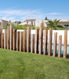 Crazy Tips Can Change Your Life: Vertical Fence Porches bamboo fence house.Stone… Crazy Tips Can Change Your Life: Vertical Fence Porches bamboo fence house.Stone Fence How To Make brick fence screens. Brick Fence, Concrete Fence, Front Yard Fence, Bamboo Fence, Pool Fence, Backyard Fences, Garden Fencing, Fenced In Yard, Gabion Fence