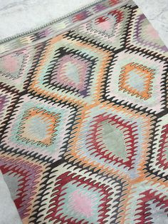 Vintage kilim rug in the most amazing soft colours... WWW.MARKWALDORF.DK