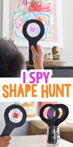 Take preschoolers on a shoe hunt using these fun DIY I Spy magnifying glasses!