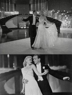 """Fred Astaire and Ginger Rogers - """"Swing Time"""" 1936. It took 37 takes to get up these stairs; according to Ginger's autobiography it was technical difficulties that plagued them (camera malfunctions, sound recording issues, etc) but neither one would give up until they got it. It's wonderful to have such talent captured on film!"""