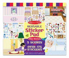 Melissa & Doug Spielhaus! Wiederverwendbares Aufkleber Pad: Amazon.de: Spielzeug