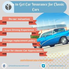 Saving your dollars is important but getting the maximum insured value for your classic Car is a need.Tips for shopping best Classic Car Insurance to get Inexpensive Car Insurance, Low Car Insurance, Getting Car Insurance, Classic Car Insurance, Auto Insurance Companies, Teen Driver, Auto News, Top Cars