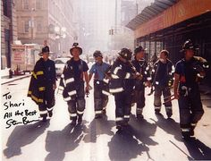 Steve Buscemi returned to his firehouse after 9/11 to help out. Isn't this picture kind of Reservoir Dogs ish?
