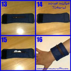 wrist wallet for running. Step-by-step tutorial with pictures.