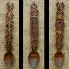 Romanian wood spoon