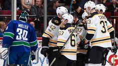 VANCOUVER -- Brad Marchand scored a hat trick in the third period to help the Boston Bruins to a 6-3 comeback win against the Vancouver Canucks at Rogers Arena on Monday.Marchand...