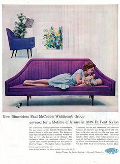 vintage sofa = beautiful shape.  on my 'to eventually remake' list.
