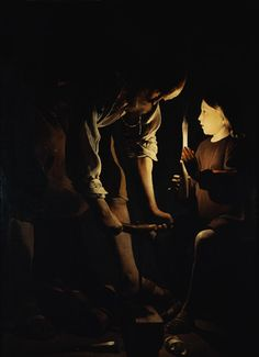 Image: Georges de La Tour - Joseph as a carpenter and the Jesusknabe