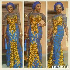 Check Out This Lovely Ankara Gown Design - DeZango Fashion Zone