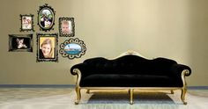 Change the look of your rooms in a heartbeat with Dezign With a Z's Scribble Frames pack decals. Custom Wall Decals, Vinyl Designs, Shop Signs, Scribble, Wall Murals, Paint Colors, Love Seat, Contemporary, Modern