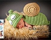Inspiration For New Born Baby Photography : Crochet Pattern 031  Snail / Slug Animal Cape Newborn Photography Prop