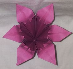 Classic origami Iris.  -Florigami By Amy