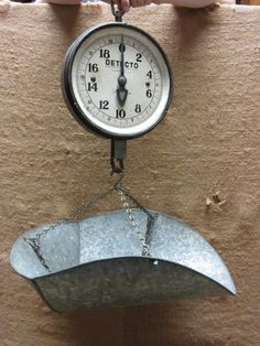 Old produce scale for kitchen display