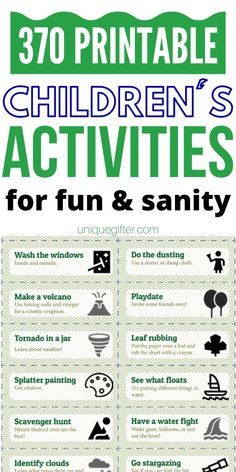 """Let the kids entertain themselves with these no cost and low-cost ideas, perfect for an activity jar. Get rid of the """"I'm booored"""" cries and make fun new memories instead. Outdoor Activities For Kids, Fun Activities, Activity Ideas, Superhero Gifts, Family Fun Night, Boredom Busters, Kids Corner, Business For Kids, Kids And Parenting"""
