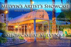 Music @ Melvyn's - Ingleside Inn | At Melvyns' Casablanca Lounge, our Jazz tradition continues every Sunday afternoon from 3:30pm to 7:30pm as we serve up Palm Springs' top guest musicians and singers. Hosted by the multi-talented Mikael Healey. No cover charge.