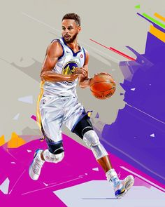 """NBA Players Illustration — Denis Gonchar - Croativa - Medium Denis Gonchar — Digital Artist, Illustrationist and Graphic Designer from Ukraine. """"NBA Players Illustration — Denis Gonchar"""" is published by Mario in Croativa. Stephen Curry Basketball, Nba Stephen Curry, Basketball Drawings, Basketball Art, Basketball Players, Soccer, Basketball Quotes, Basketball Drills, Basketball Jersey"""