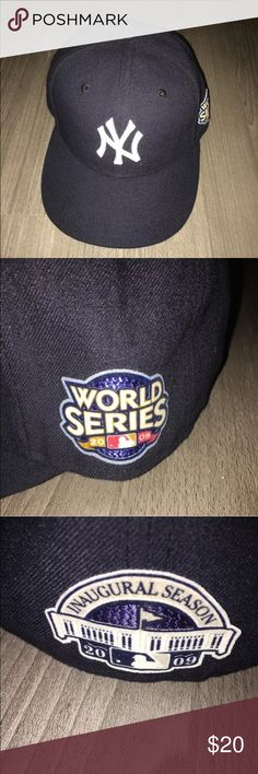 59 fifty New York Yankee fitted hat World series Fitted hat like new sz 7 5/8 not my size World Series rare edition Great hat in good condition I combine shipping n make bundles ask me ?s thanks Accessories Hats