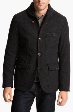 Ted Baker London  Gamit  Shawl Collar Wool Blend Jacket available at   Nordstrom Moncler d48e58e249f9