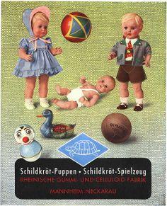 1952 Schildkröt Puppen Rheinische Gummi- und Celluloid Fabrik Mannheim-Neckarau