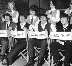 """в """"Twickenham Studios"""" при подготовке к съёмкам фильма (13 марта 1964 года)"""