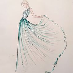 Elie Saab Fall 2013 Couture | Ele Marti Illustration