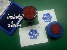 Creando sellos de gomaeva con el pirograbador - eva rubber stamps - YouTube