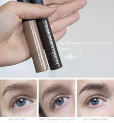 MAC PRO Longwear waterproof brow gel - Emphatically Blonde and Brown Ebony