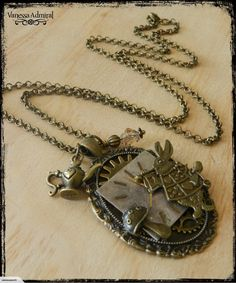 Steampunk Alice In Wonderland Necklace for sale on Trade Me, New Zealand's auction and classifieds website Alice In Wonderland, Pocket Watch, Steampunk, Necklaces, Accessories, Collar Necklace, Wedding Necklaces, Pocket Watches, Jewelry Accessories
