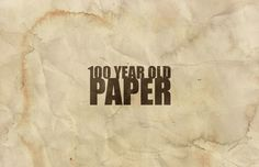 Medialoot - 100 Year Old Paper Textures