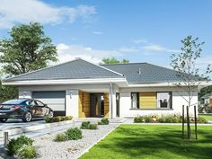 Parterowy Beautiful House Plans, Beautiful Homes, Merlin Home, Design Case, Planer, Gazebo, Beach House, Outdoor Structures, House Design