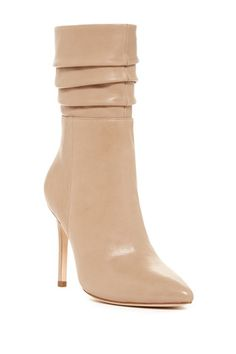 97e444c2c21 Pleated Shaft Leather Boot Only Shoes