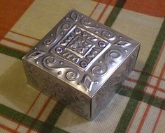 How to:Embossed metal box from a beverage can. This is a great idea with many apps.