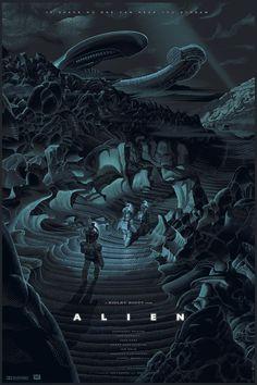 Cool Art: Alien by Laurent Durieux Alien 1979, Fan Poster, Retro Poster, Movie Poster Art, Tv Movie, Sci Fi Movies, Horror Movies, Movie Club, Art Alien