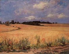 Cornfield by Istvan Boldizsar (1897-1984, Hungary)