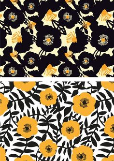 Pattern Floral Patterns by sarah edith, via Behance . Motifs Textiles, Textile Prints, Textile Patterns, Textile Design, Print Patterns, Lino Prints, Block Prints, Flower Pattern Design, Surface Pattern Design