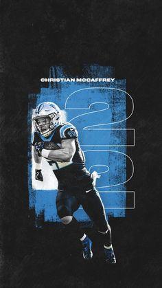 Nike Wallpaper, Black Wallpaper, Carolina Panthers Wallpaper, Carolina Panthers Football, Nfl Football, Sports Graphic Design, Sport Design, Panther Nation, Christian Mccaffrey