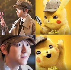 He would be frikken perfect as human pikachu Baekyeol, Chanbaek, Baekhyun, Human Pikachu, K Pop, Exo Facts, Exo Lockscreen, Xiuchen, Exo Ot12
