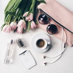 Flatlay Inspiration · via Custom Scene · Pretty Flatlay Scene