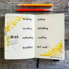 This week's spread is very simple. I recently developed a particular liking to the unruly effects achieved by watercolors as you may have…