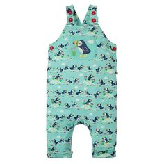 a0d8538fd4 Frugi Organic Lovely Day Dungaree - St Agnes Puffin Parade. Baby goes Retro