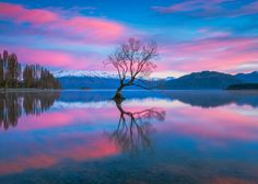 Halycon - After browsing through some images from previous shoots this weekend I decided to process and post this composition from a stunning sunrise at Lake Wanaka last winter.